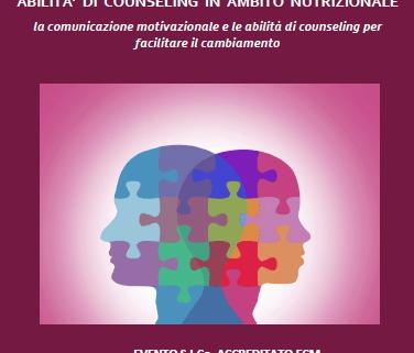 dr.ssa saetta, nutrizionista, counselor, counseling nutrizionale, abilità di counseling, seminario