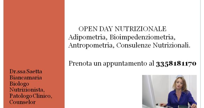 saetta, nutrizionista, napoli, vomero, mergellina, open day, consulenze nutrizionali